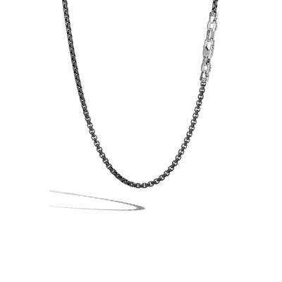John Hardy Box Chain Sterling Silver Necklace