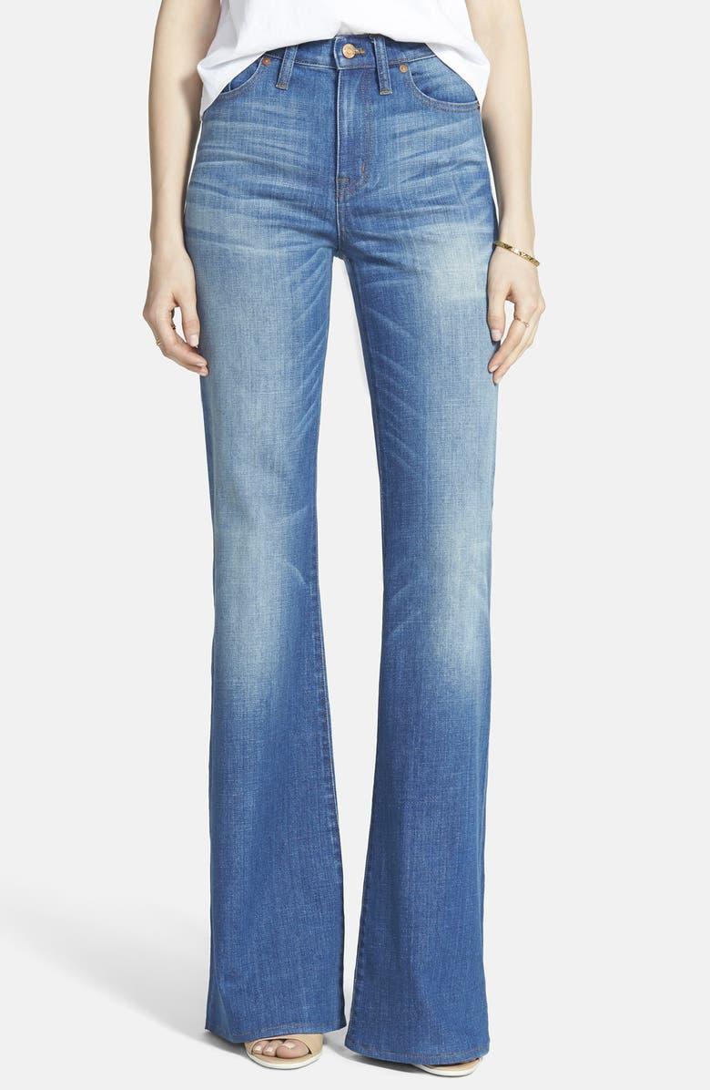 MADEWELL 'Flea Market Flare' High Rise Jeans, Main, color, 400