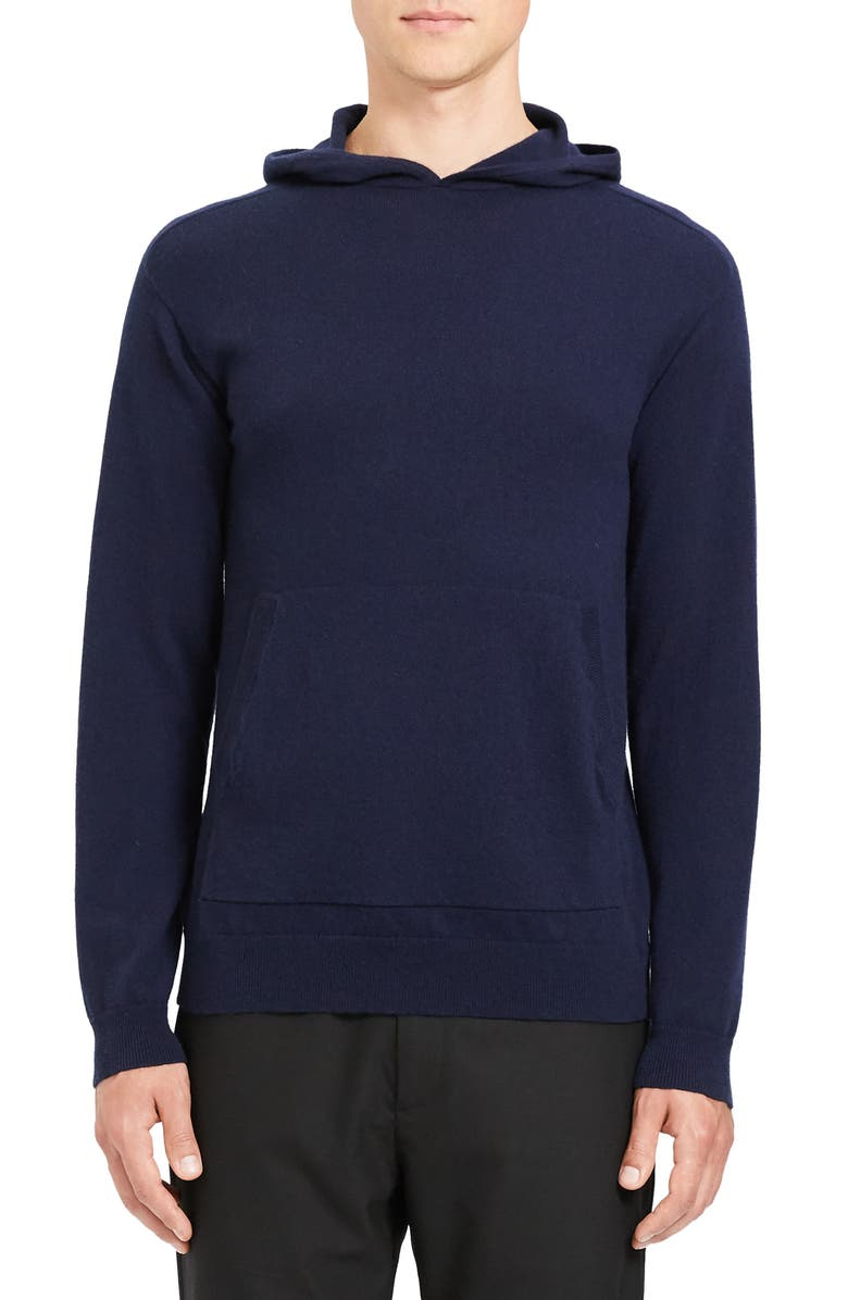 THEORY Alcos Slim Fit Cashmere Hoodie, Main, color, ECLIPSE