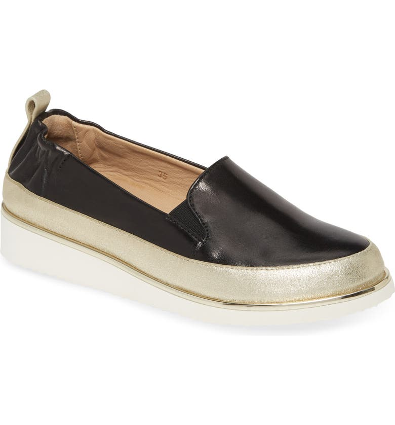 RON WHITE Nelleca Slip-On Sneaker, Main, color, ONYX/ PLATINO
