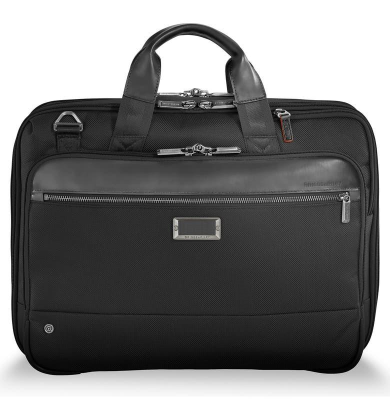 BRIGGS & RILEY @work Expandable Briefcase, Main, color, BLACK