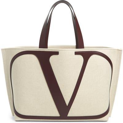 Valentino Garavani Large Escape V-Logo Tote - Beige
