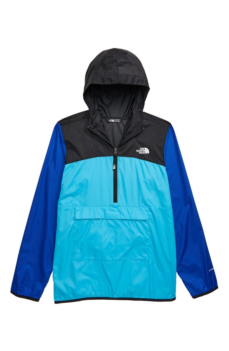 THE NORTH FACE Fanorak Water Repellent Hooded Windbreaker, Main, color, TURQUOISE BLUE