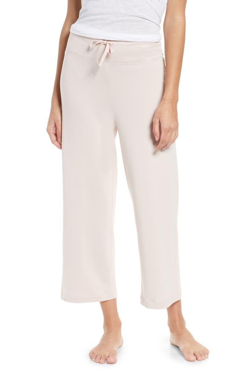BAREFOOT DREAMS<SUP>®</SUP> Malibu Collection Crop Pajama Pants, Main, color, SHELL