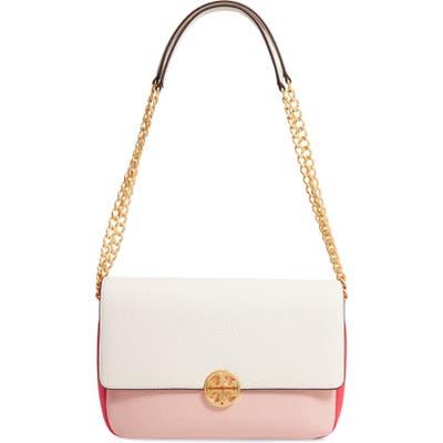 Tory Burch Chelsea Colorblock Leather Shoulder Bag - Pink