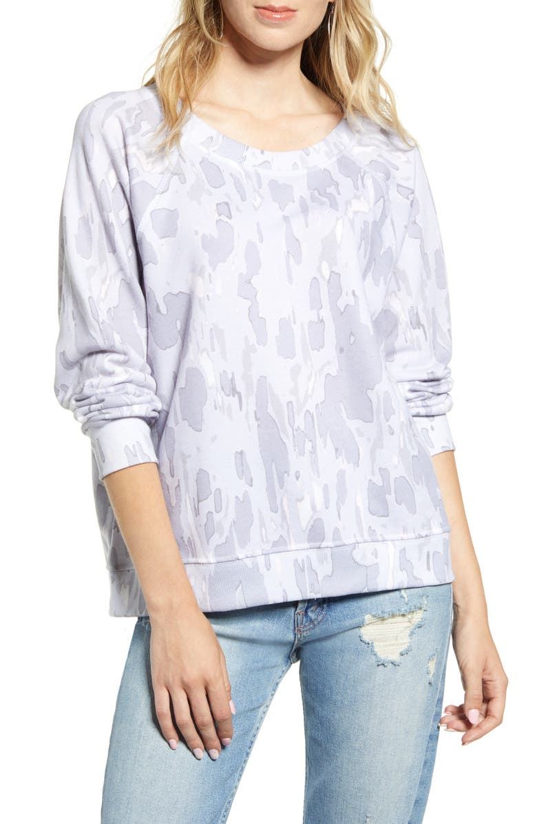 WILDFOX Rose Camo Sommers Sweatshirt, Main, color, MULTI