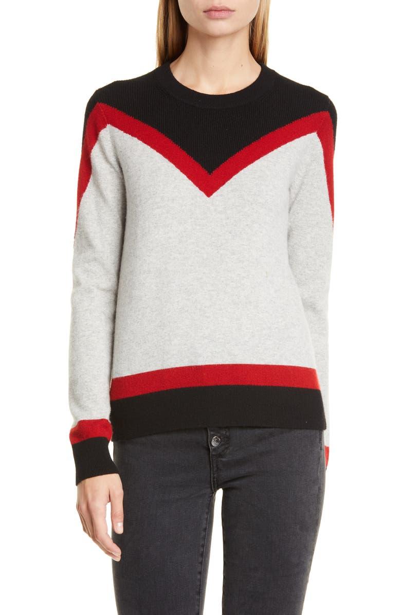 VERONICA BEARD Bradford Stripe Cashmere Sweater, Main, color, NAVY MULTI