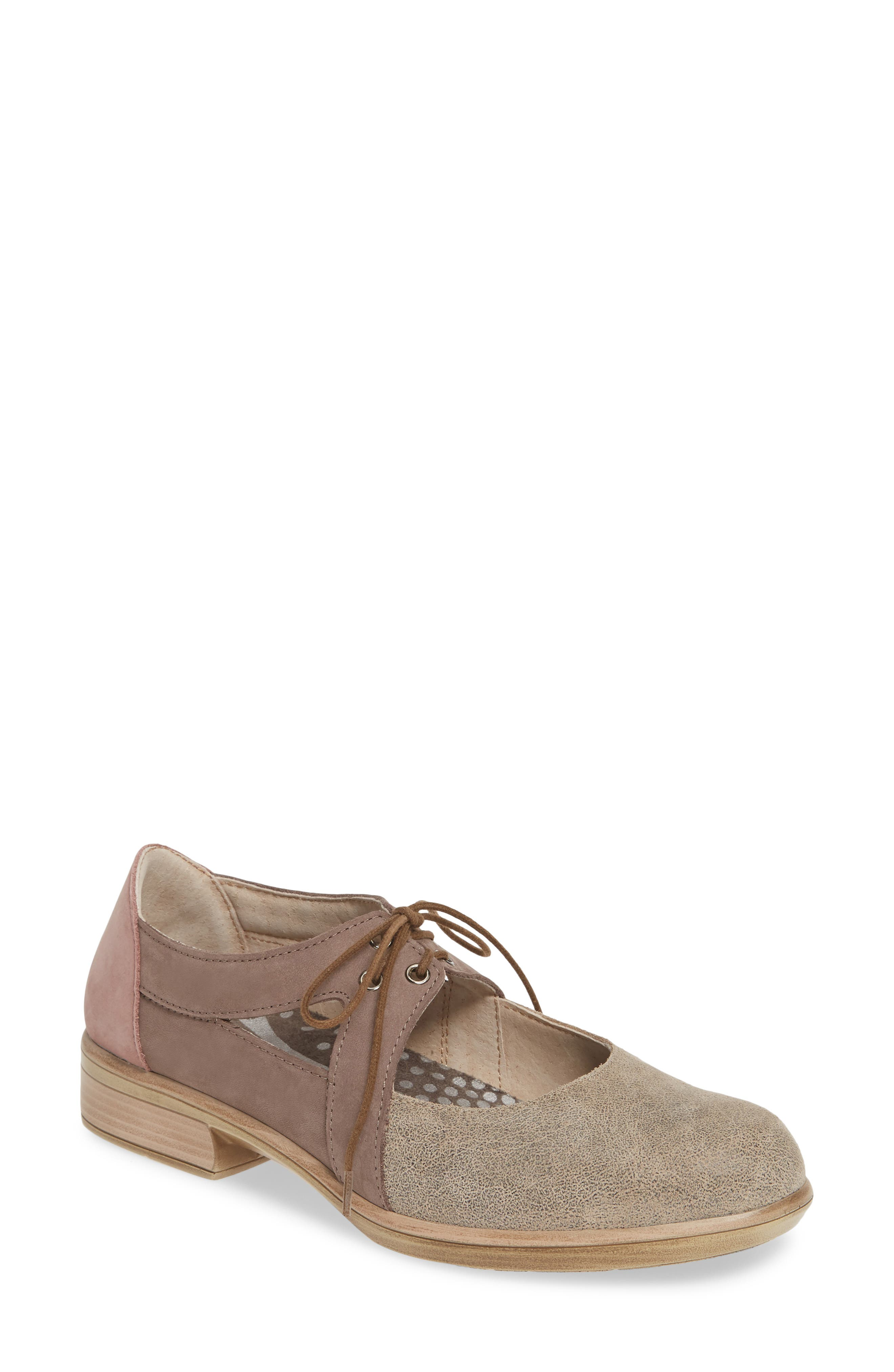 Naot Alisio Lace-Up Shoe, Beige