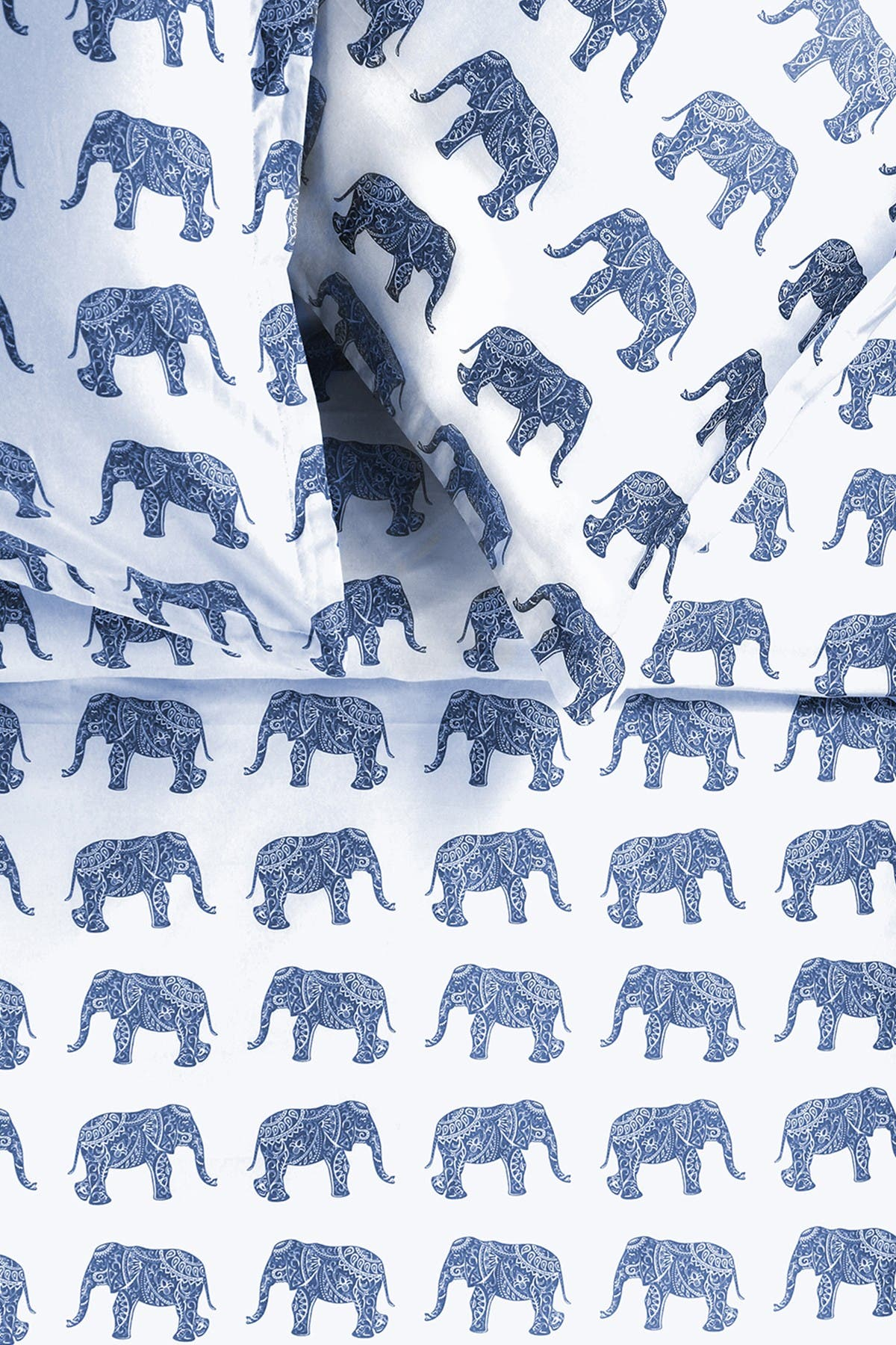 Image of Melange Home Grey Full/Queen 400 Thread Count Cotton Elephants Duvet Set