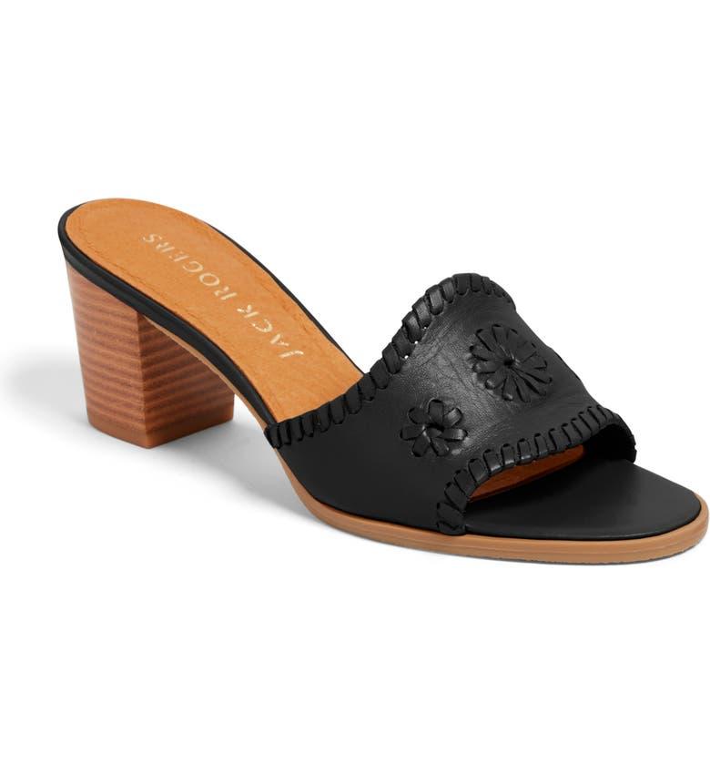 JACK ROGERS Rory Block Heel Sandal, Main, color, BLACK