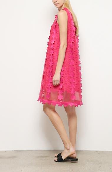 Floral Appliqué Double Layer Shift Dress, video thumbnail