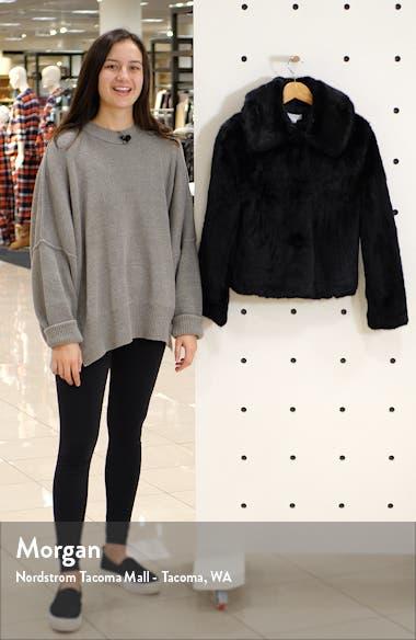Anne Faux Fur Crop Coat, sales video thumbnail