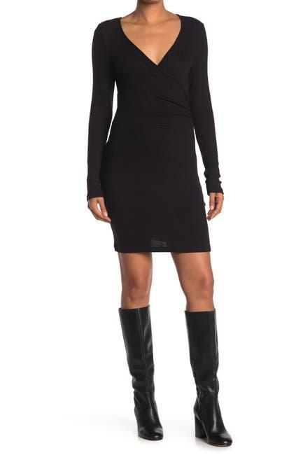 Image of RD Style Surplice Neck Long Sleeve Dress