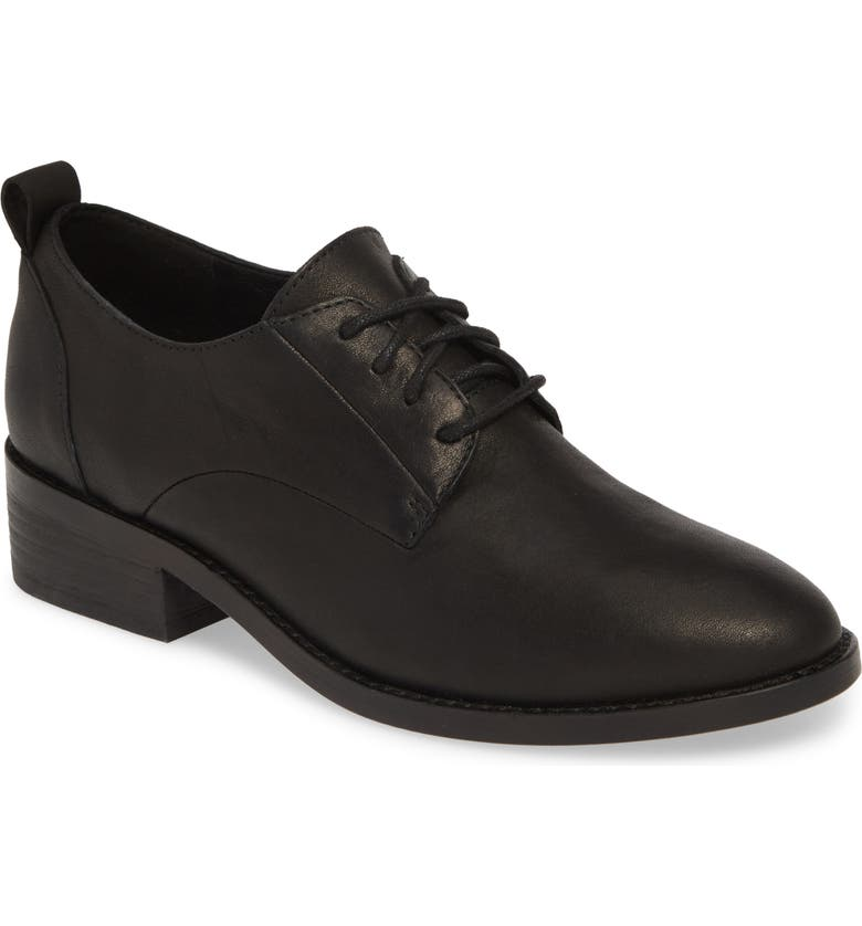 EILEEN FISHER Nan Derby, Main, color, BLACK LEATHER