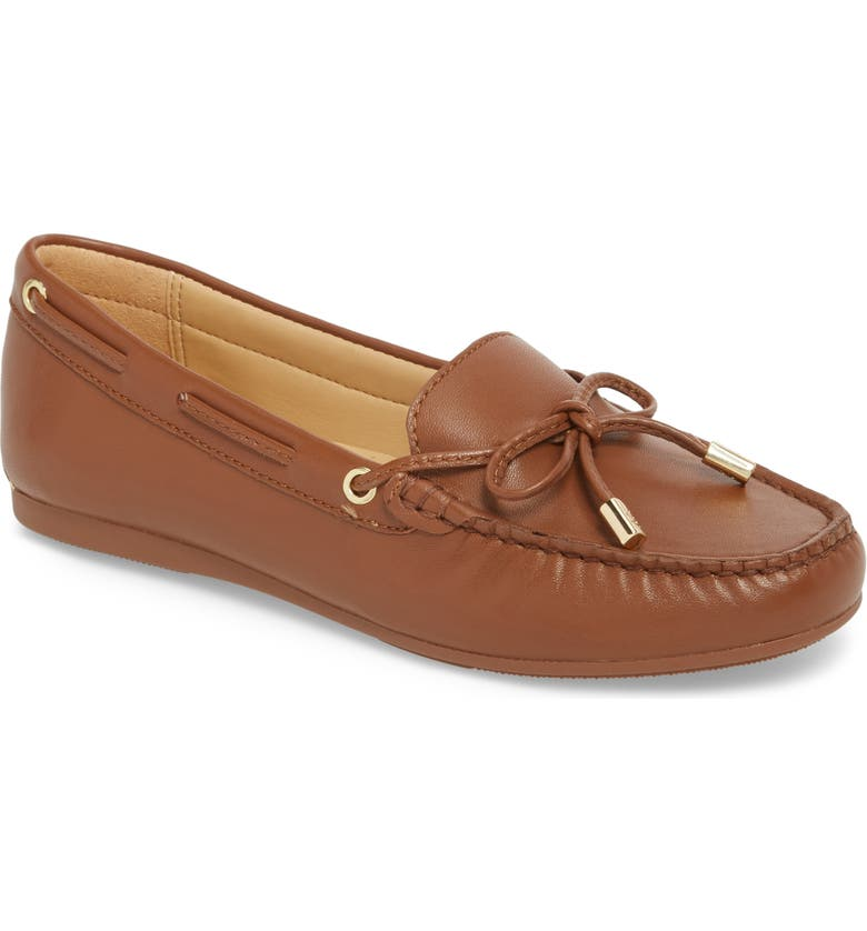 MICHAEL MICHAEL KORS Sutton Moccasin, Main, color, LUGGAGE LEATHER