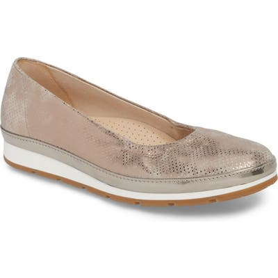 Gabor Ballet Wedge, Metallic