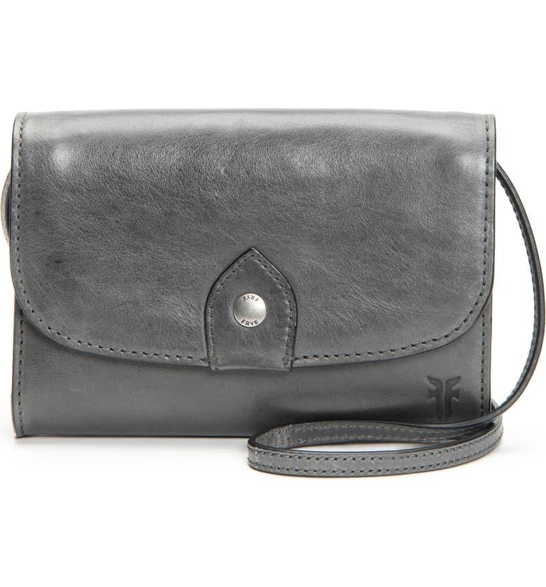 FRYE Melissa Leather Crossbody Bag, Main, color, 025