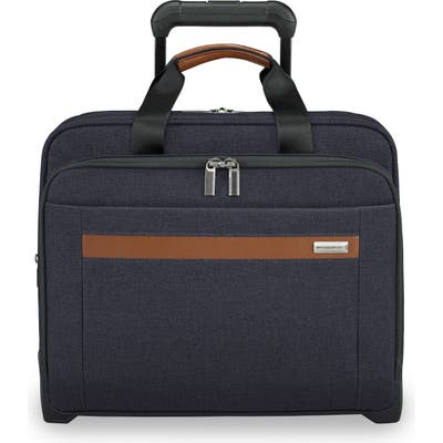 Briggs & Riley Medium Kinzie Street Rfid Pocket Expandable Rolling Laptop Briefcase - Blue
