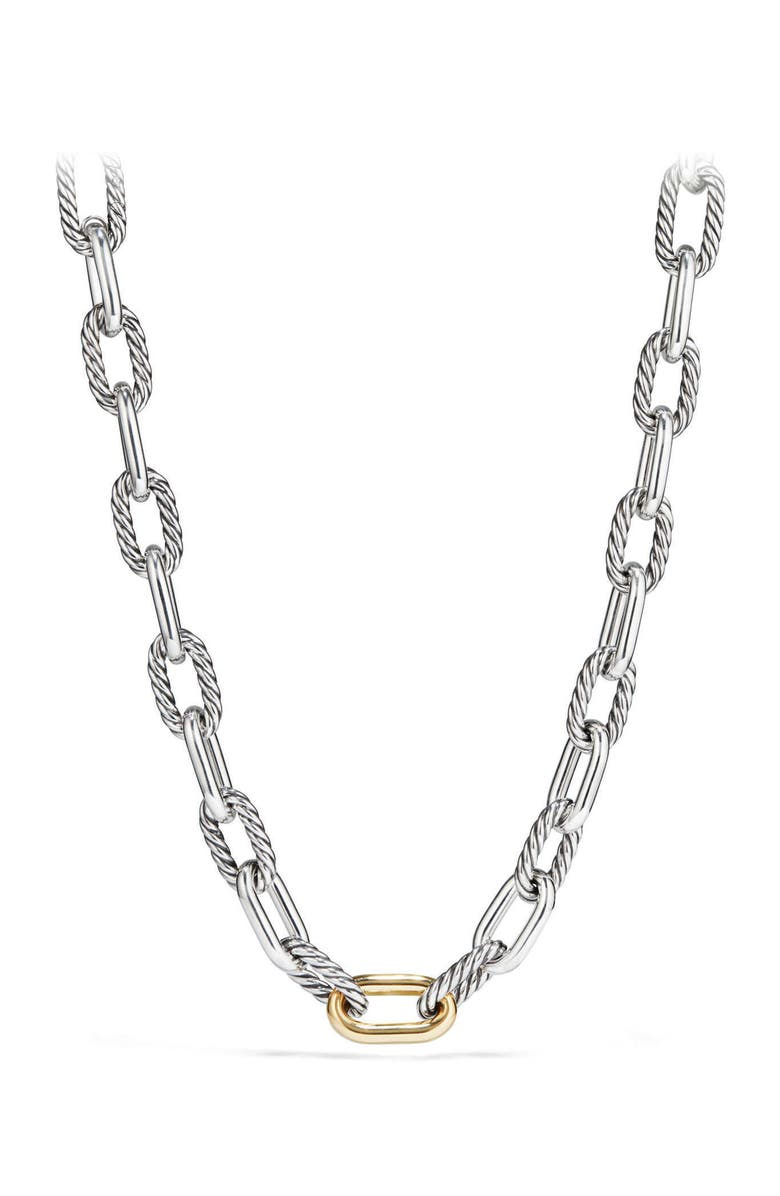 DAVID YURMAN DY Madison Chain Large Necklace with 18K Gold, Main, color, SILVER/ GOLD