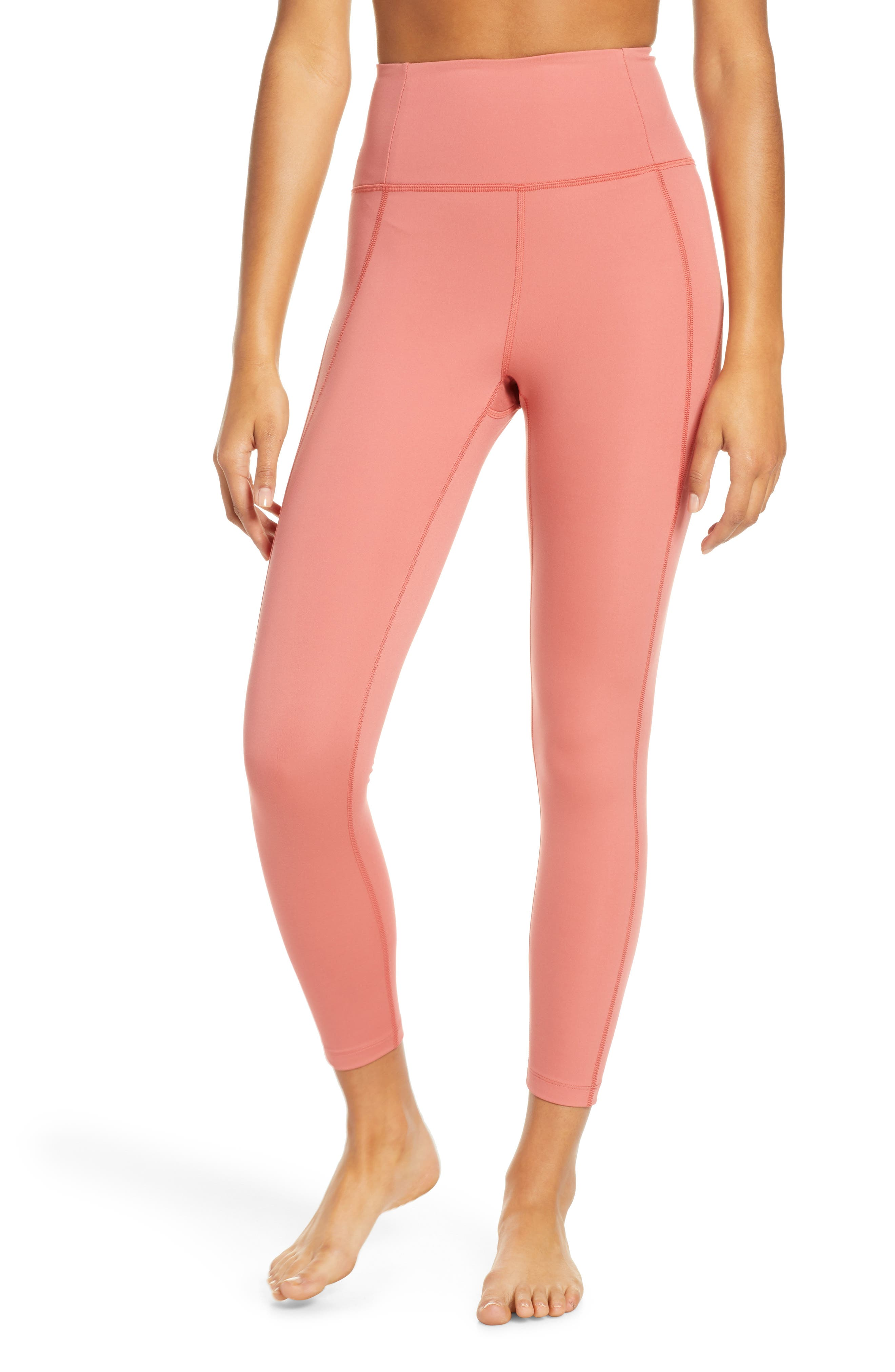 Girlfriend Collective High Waist 7/8 Leggings, Pink