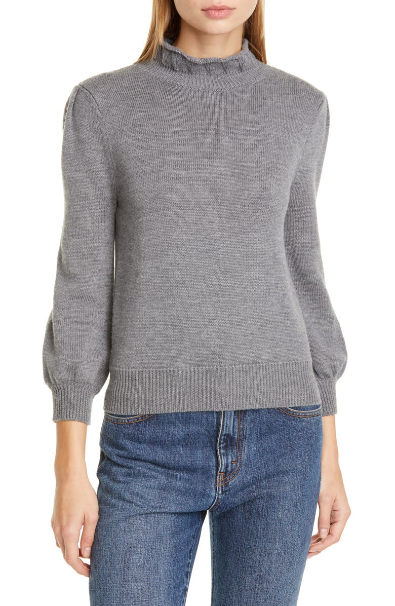 CO Essentials High Collar Wool Sweater, Main, color, GREY