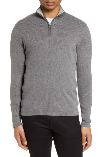 Image of Zachary Prell Newton Cotton & Cashmere Half Zip Pullover
