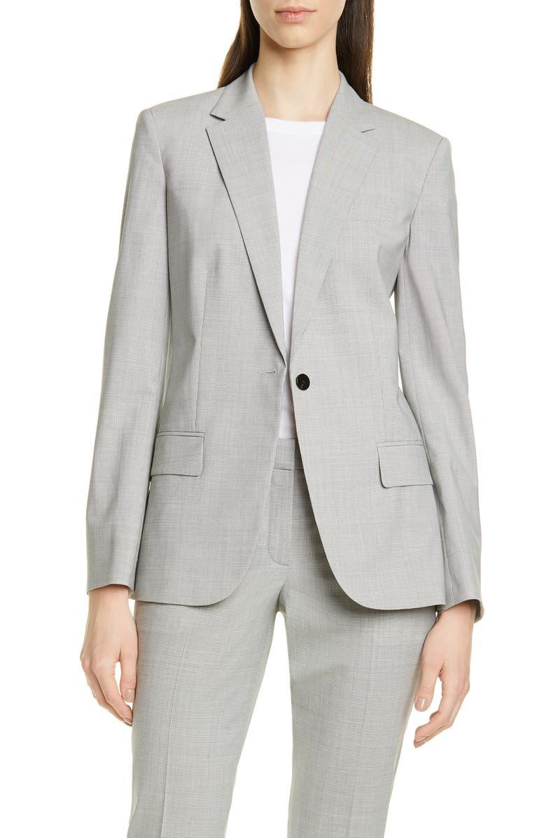 THEORY Staple Blazer, Main, color, GREY MULTI