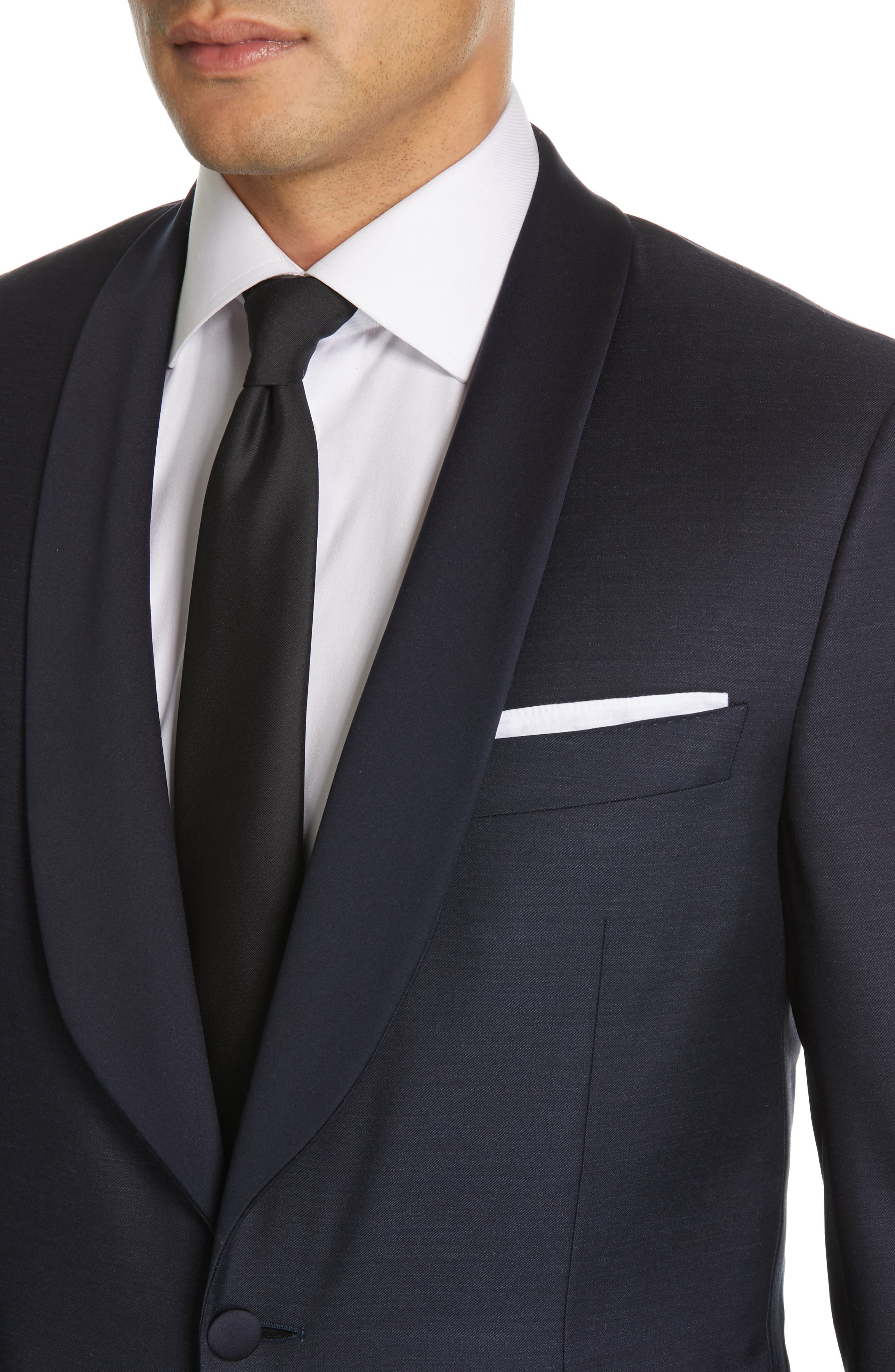 ,                             Venieza Classic Fit Wool Tuxedo,                             Alternate thumbnail 4, color,                             NAVY