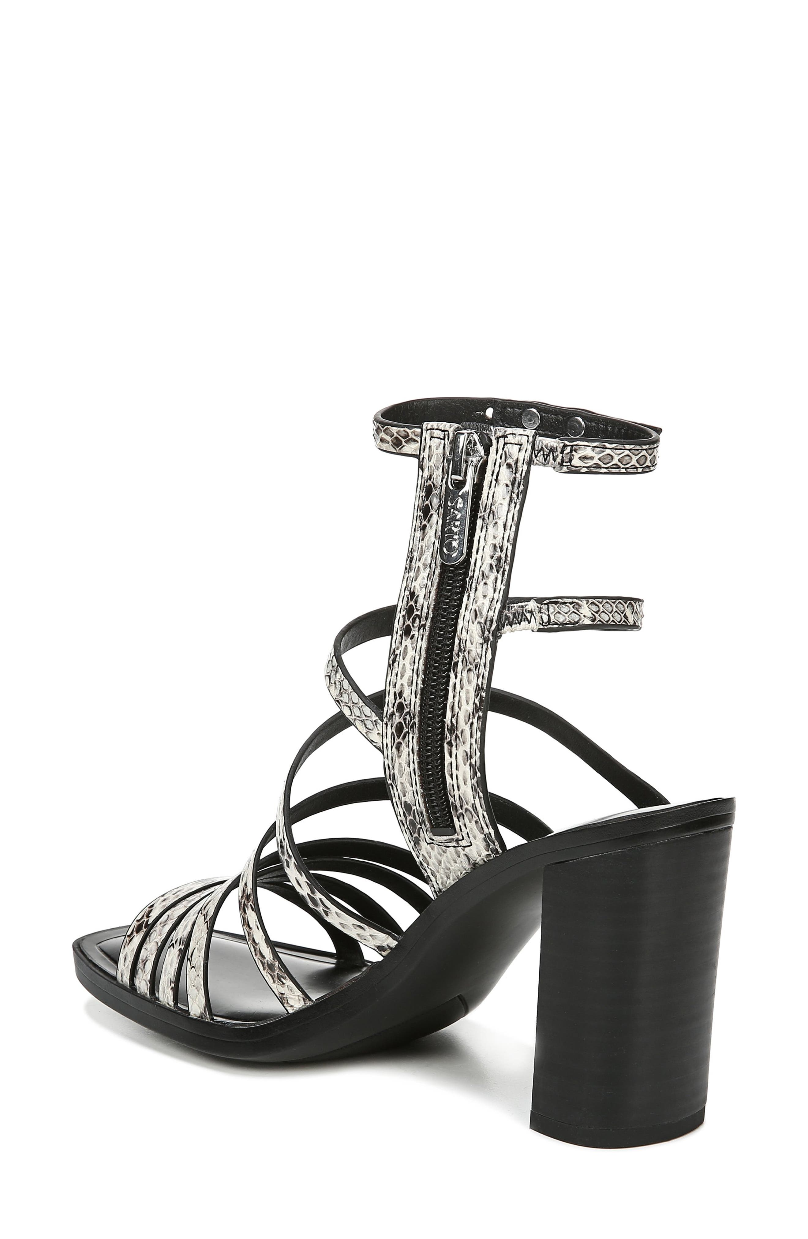 ,                             Winnie Strappy Sandal,                             Alternate thumbnail 2, color,                             BLACK/ WHITE SNAKE PRINT