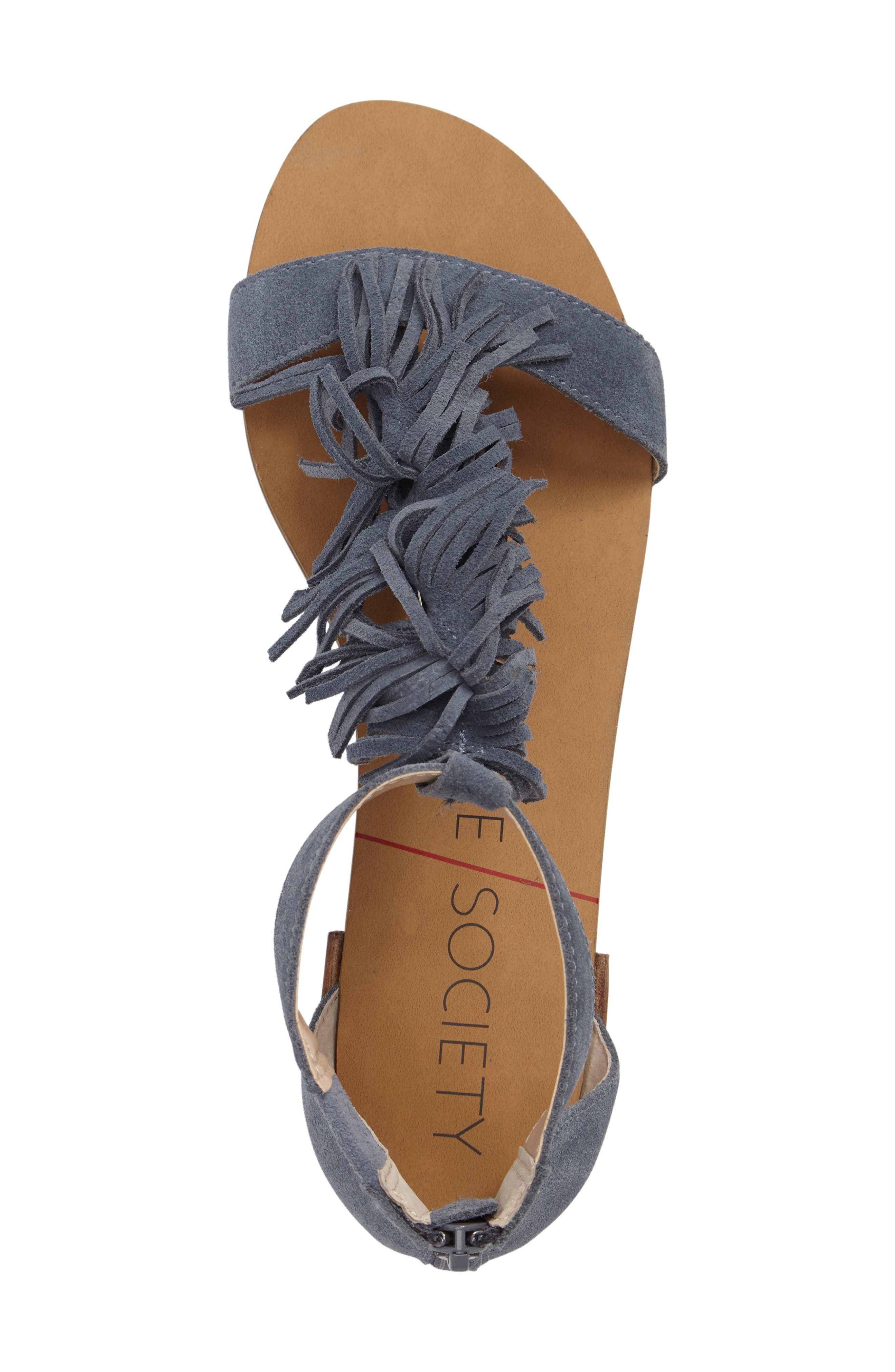 ,                             Koa Fringed T-Strap Sandal,                             Alternate thumbnail 17, color,                             450