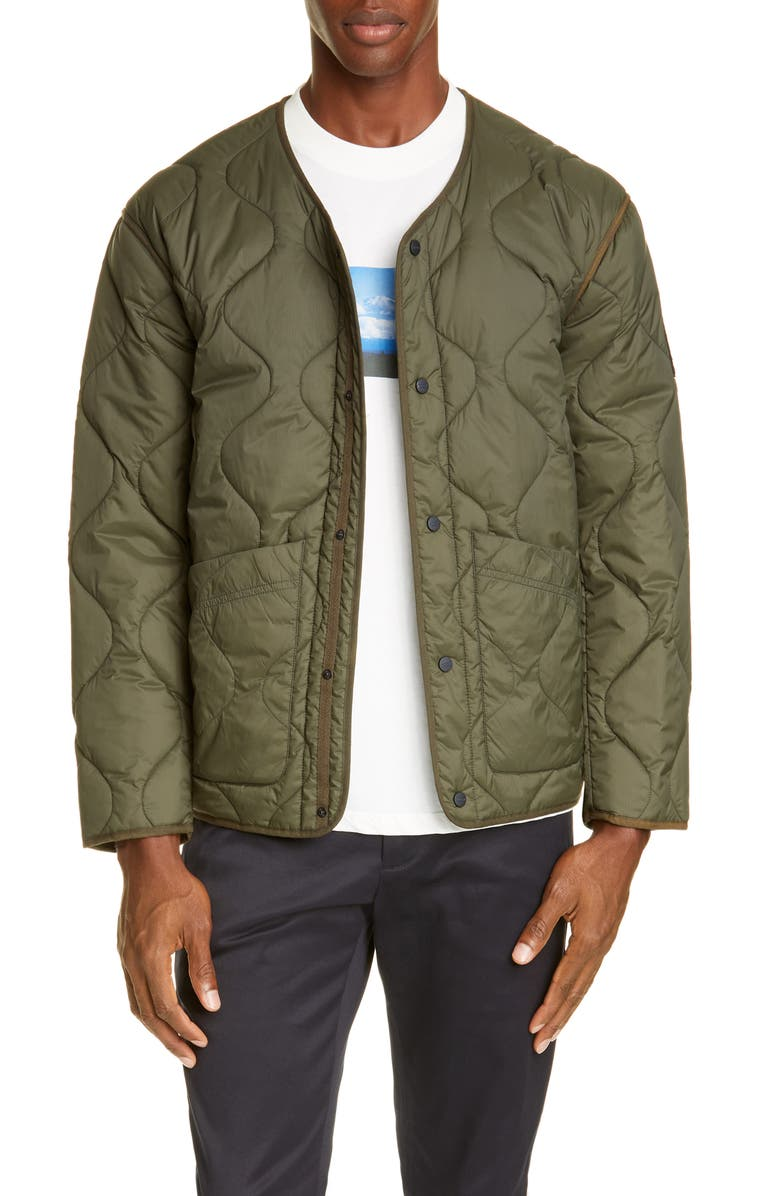 CLOSED Quilted Jacket, Main, color, SEA TANGLE