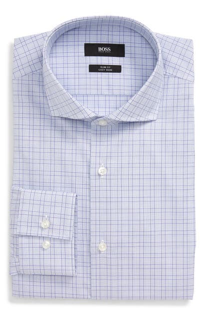 Boss Dresses JASON SLIM FIT PLAID DRESS SHIRT