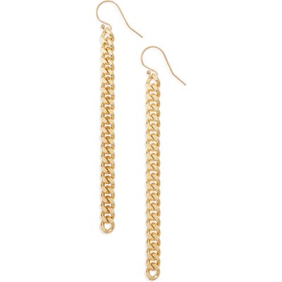 Knotty Classic Chain Linear Drop Earrings
