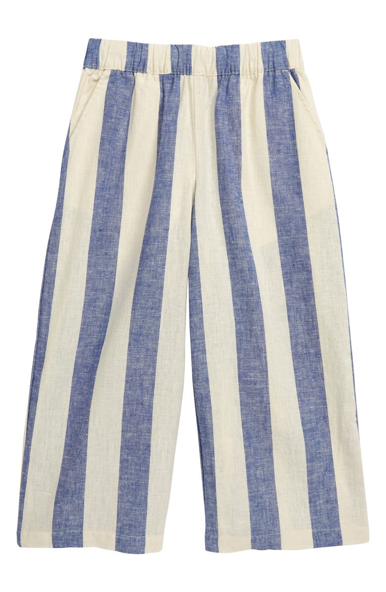 TEA COLLECTION Chambray Stripe Wide Leg Pants, Main, color, ASTRAL