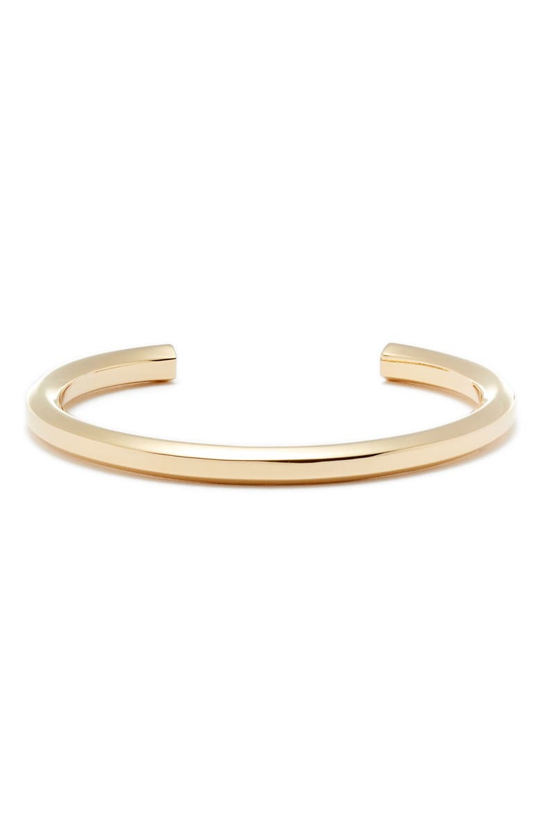 ALLSAINTS Large Hex Cuff, Main, color, GOLD
