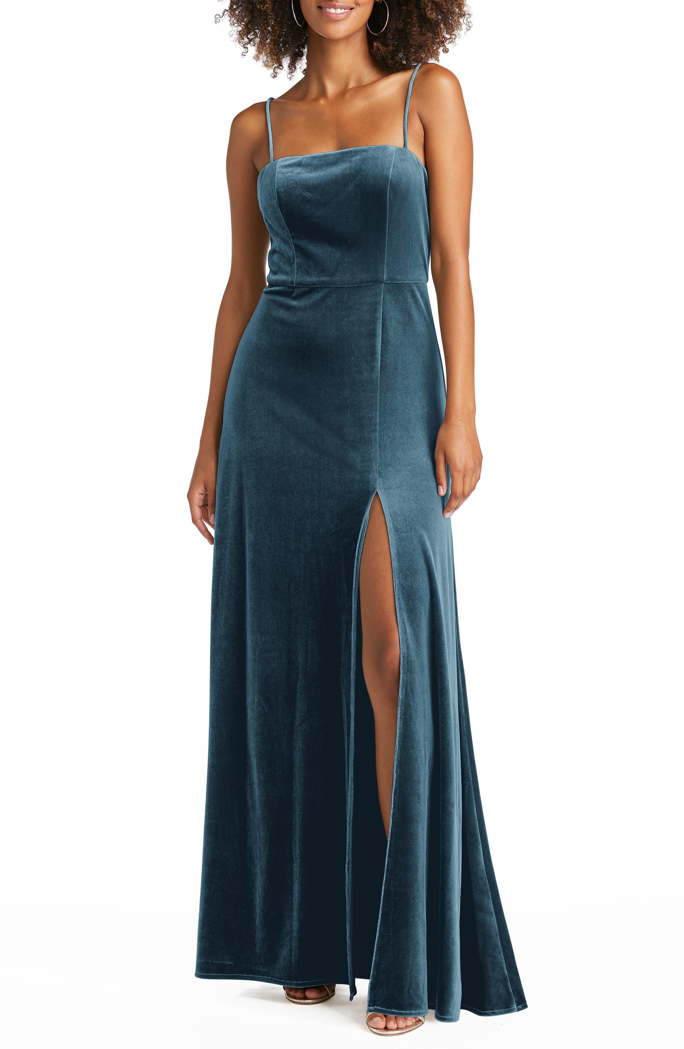 Velvet A-Line Gown