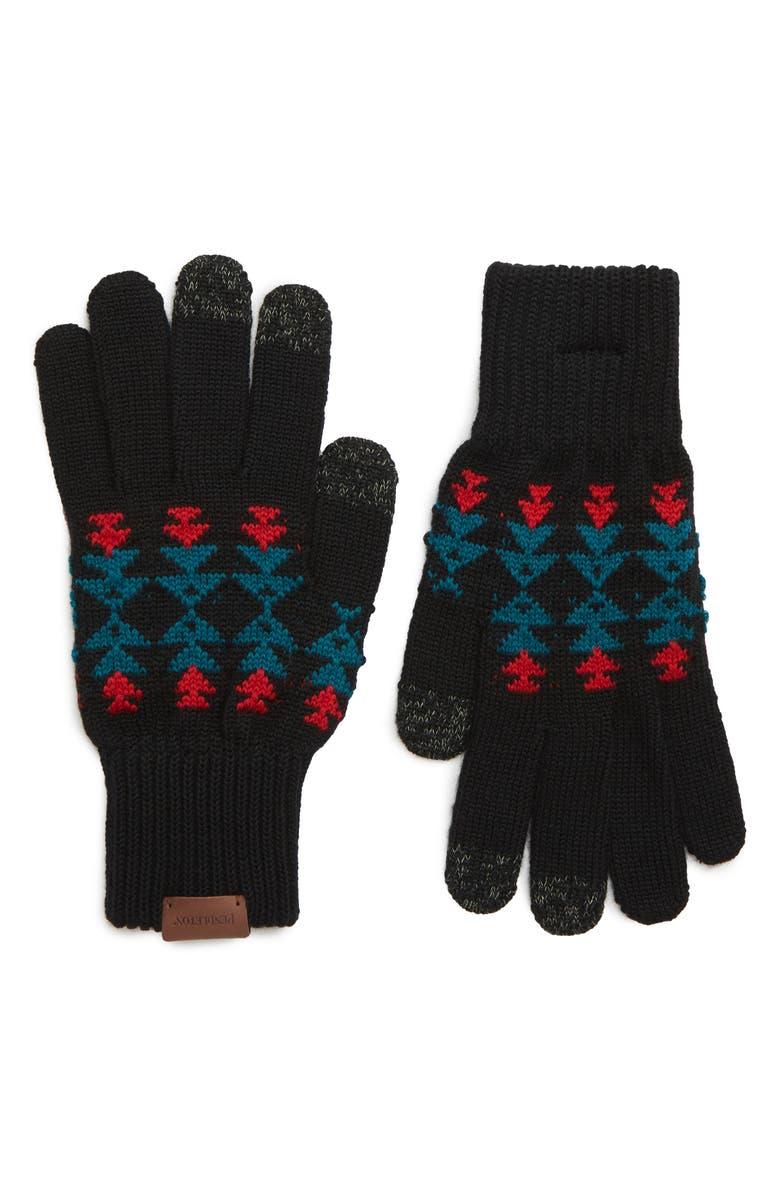 PENDLETON Jacquard Texting Gloves, Main, color, 001