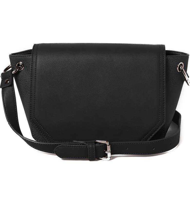 URBAN ORIGINALS City Sling Vegan Leather Crossbody Bag, Main, color, 001