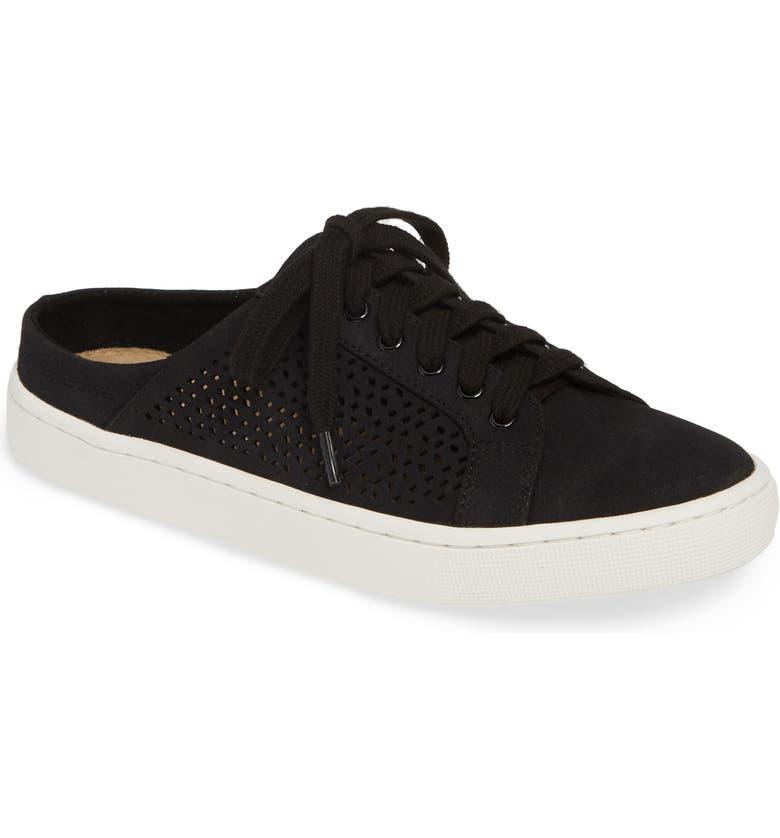 BELLA VITA Star Open Back Sneaker, Main, color, BLACK FABRIC