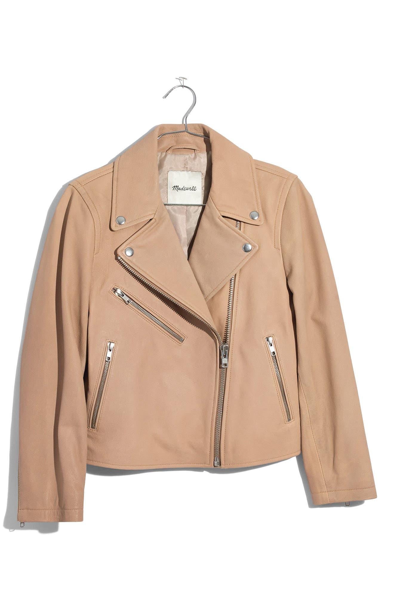 ,                             Crop Leather Moto Jacket,                             Alternate thumbnail 5, color,                             250