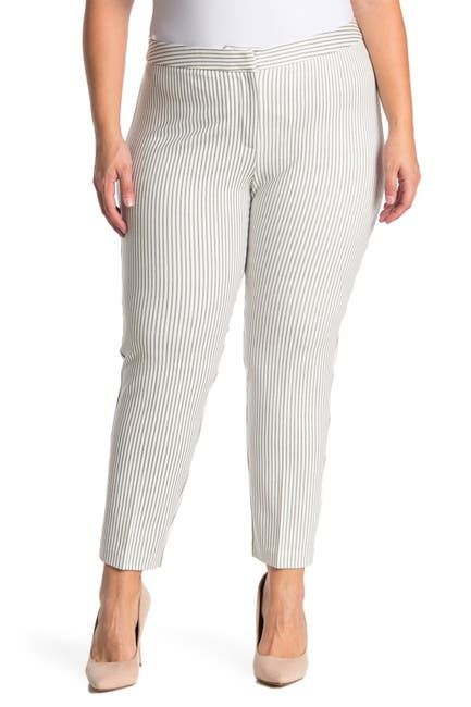 Image of Amanda & Chelsea Stripe Ponte Knit Pants