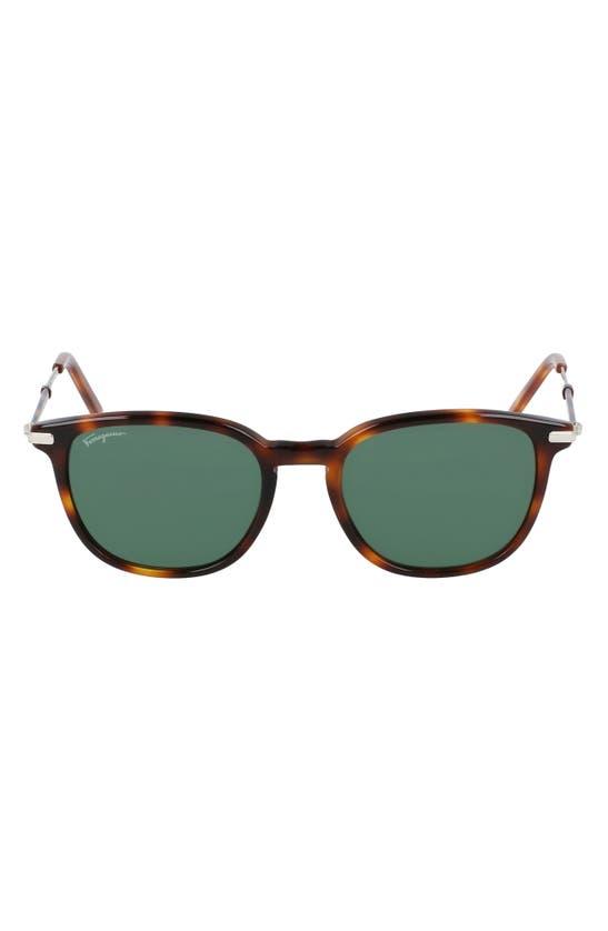 SALVATORE FERRAGAMO Sunglasses 52MM ROUND SUNGLASSES
