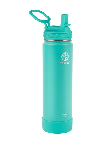 Image of Takeya Actives Insulated 22 oz. Stainless Steel Bottle with Straw Lid - Teal