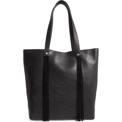 Sole Society Dunne Faux Leather Tote - Black