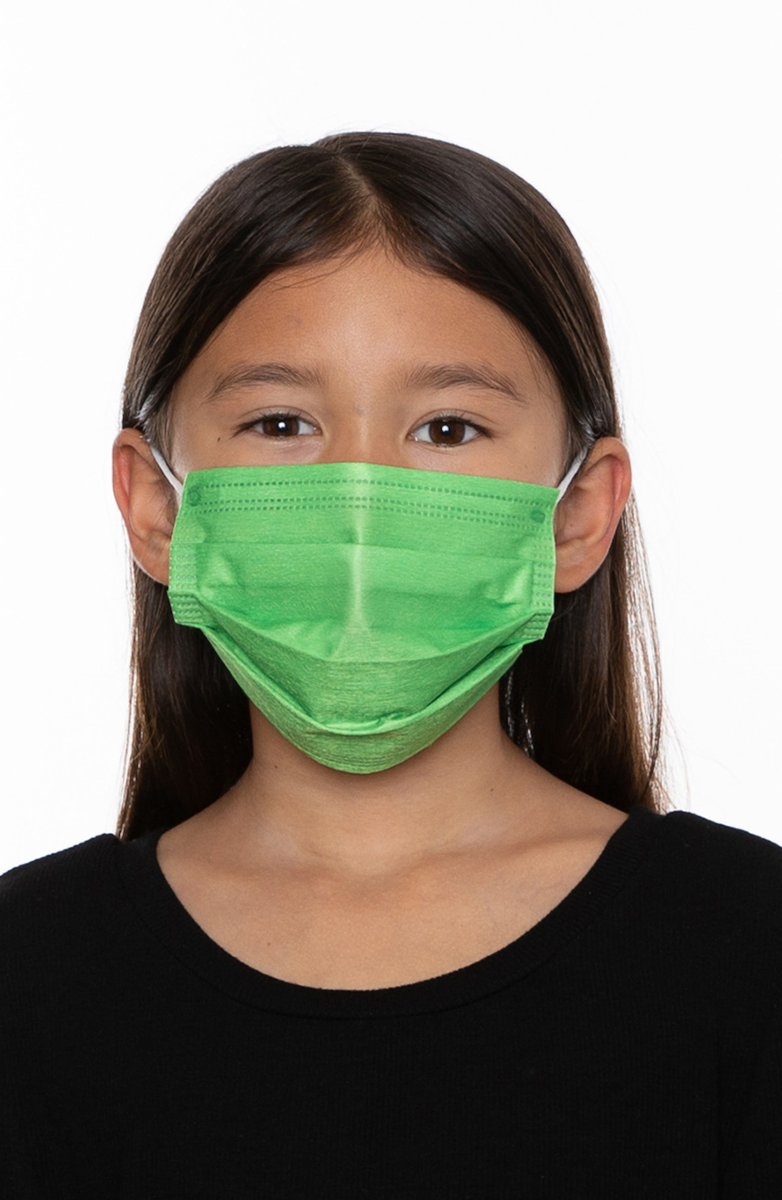 5-Pack Kids' Disposable Pleated Face Masks