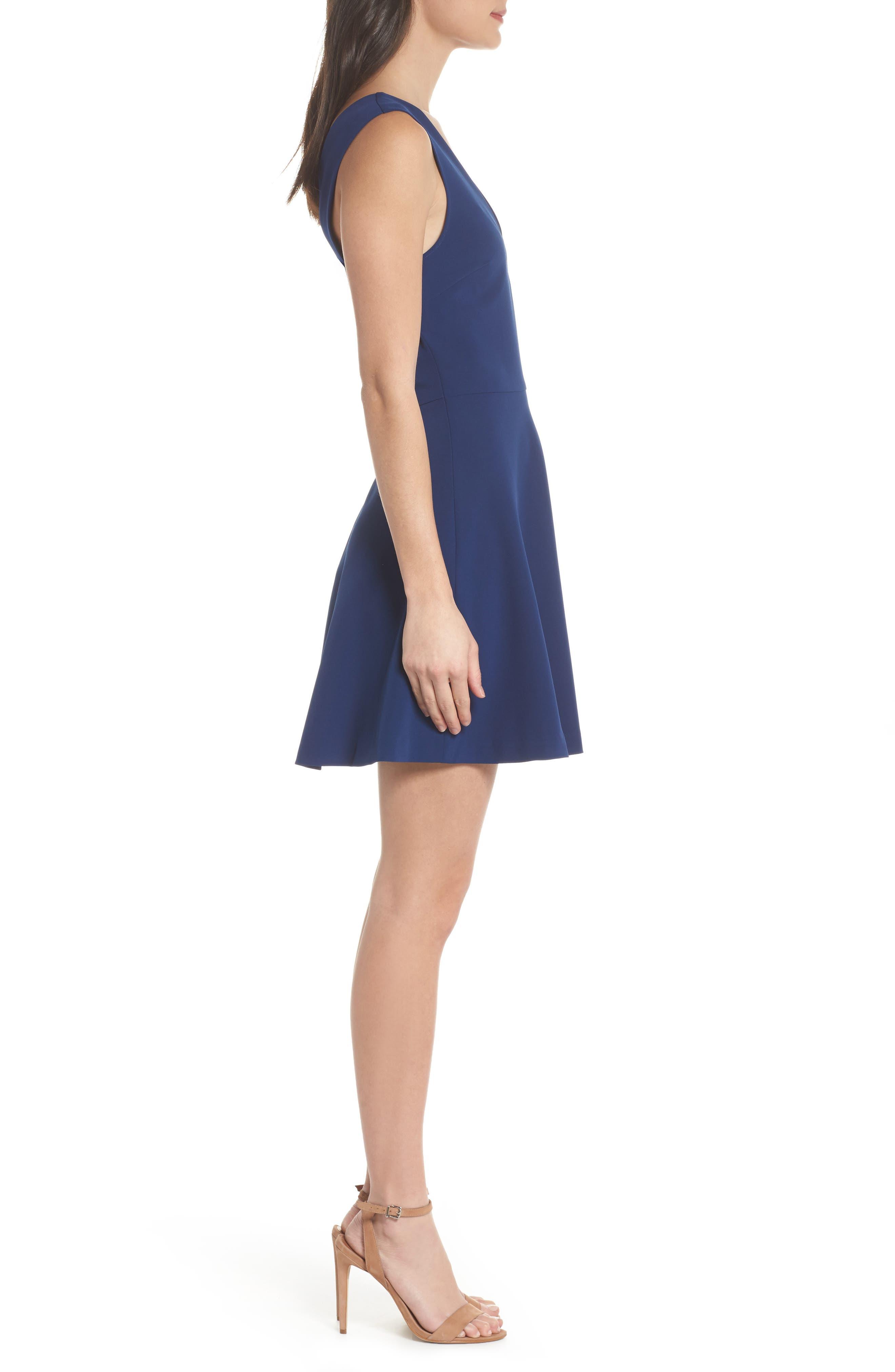 ,                             Bianca Back Cutout Fit & Flare Dress,                             Alternate thumbnail 28, color,                             400