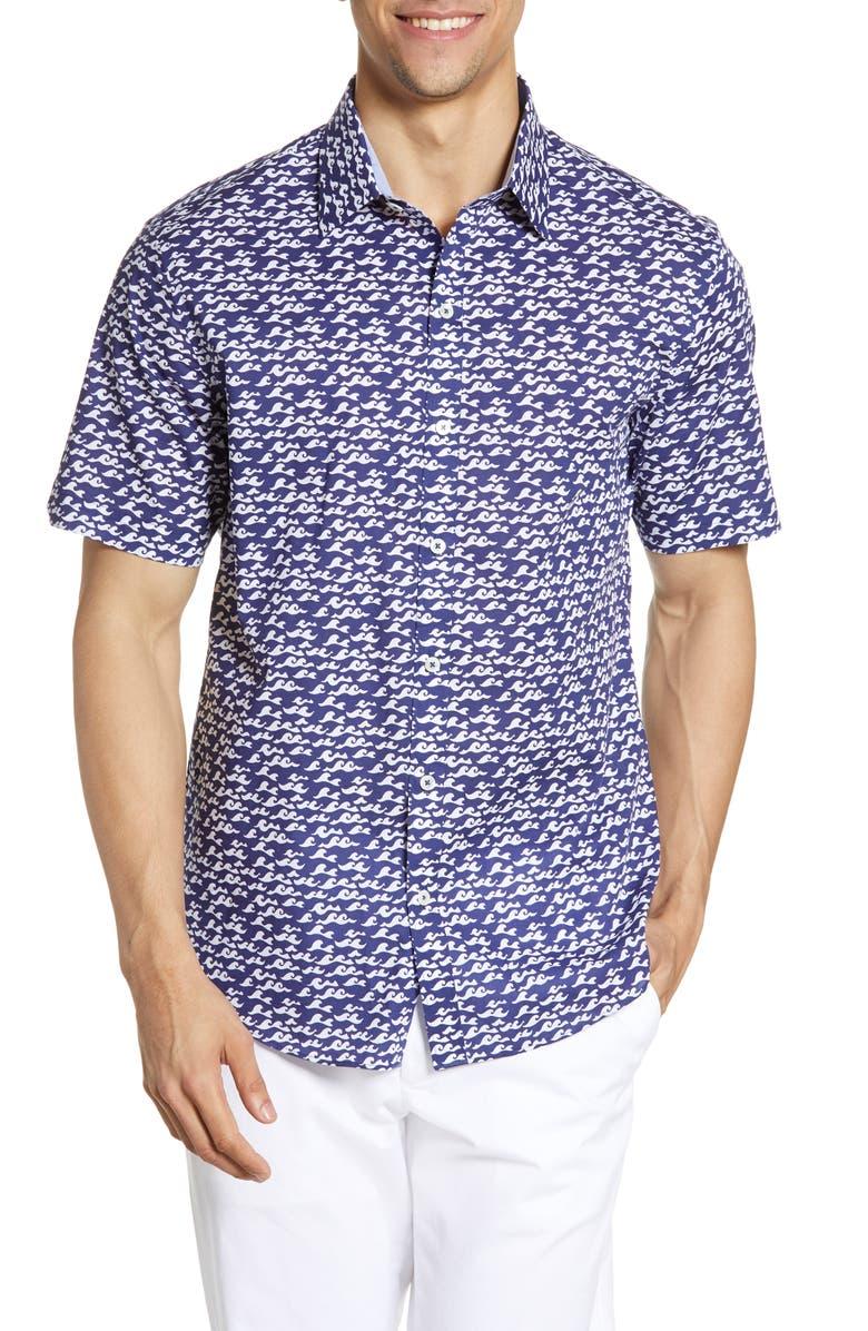 ZACHARY PRELL Eubank Regular Fit Print Sport Shirt, Main, color, 410