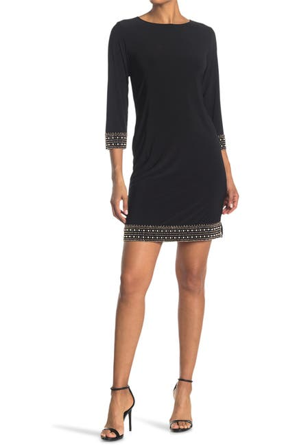 Image of TASH + SOPHIE Jersey Beaded Cuff Dress