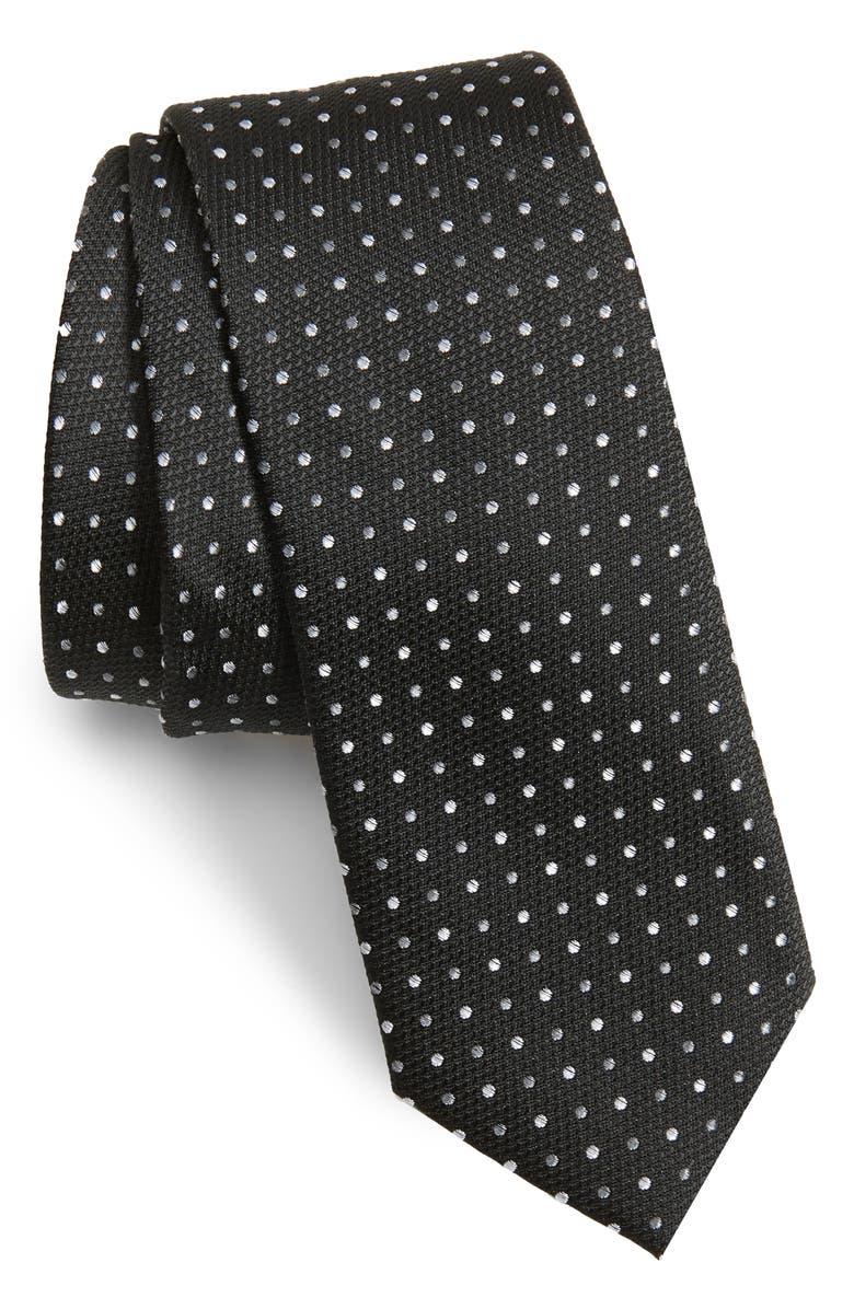 1901 Bates Dot Skinny Tie, Main, color, 001