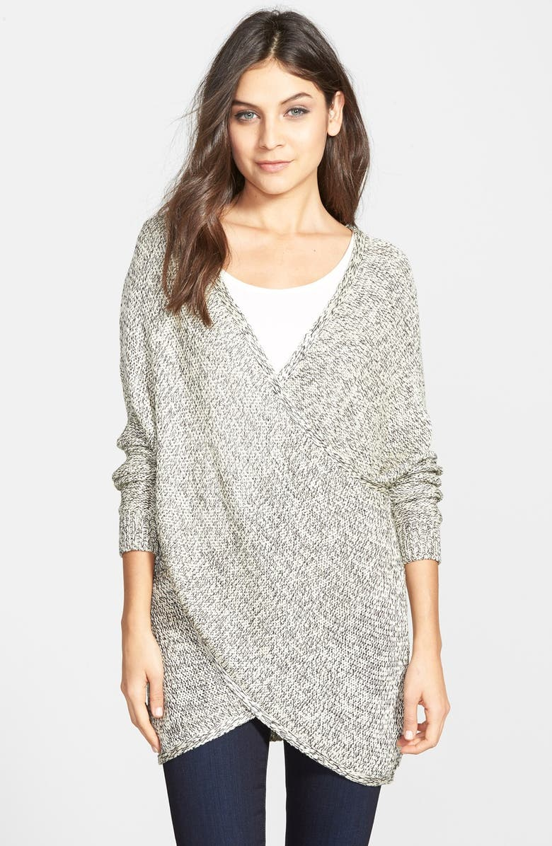 RD STYLE Wrap Front Sweater, Main, color, 100